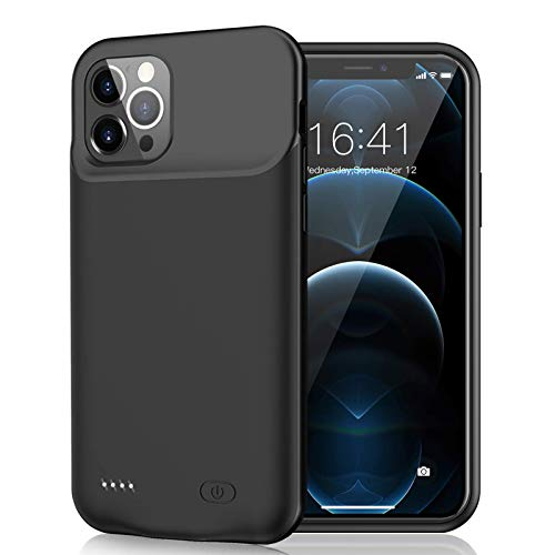 Battery Case for iPhone 12 Pro/iPhone12, 7000mAh Slim Portable Rechargeable Battery Pack Charging Case Compatible with iPhone 12 Pro/iPhone12 (6.1 inch) Extended Battery Charger Case (Black)