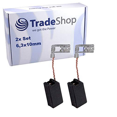 2x Kohlebürsten 6,3x10mm für Hilti/Baier/AEG/Atlas Copco Elektro-Werkzeuge (Bohrmaschinen, Bohrhammer uvm.) Motorkohlen Kohlestifte