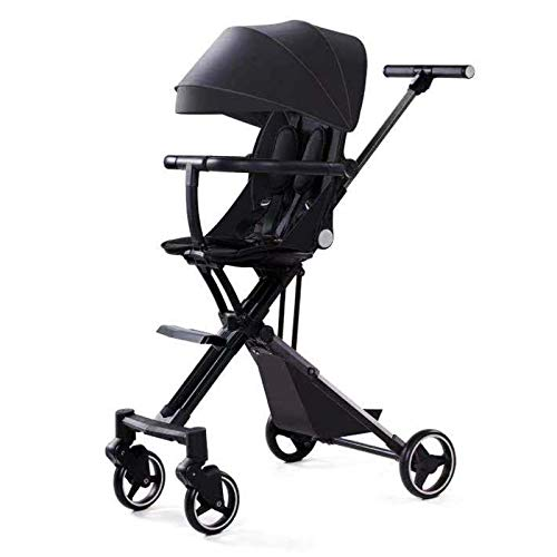 Bospyaf Foldable Baby Stroller Can Be Seated, Reclining, High Landscape, Lightweight, Removable And Washable Baby Stroller,D