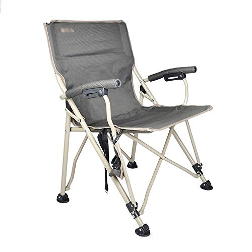 GKZJ-Stoelen Inklapbare campingstoel met armleuningen, licht, draagkoffer, hoge leuning, camping | feesten | tuinen | reizen | vissen | strand | grillen, 60 x 62 x 89 cm