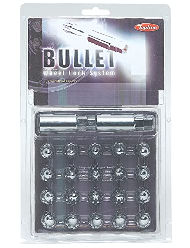 Topline Products C48705S-16 Chrome Bullet Wheel Lock Security System | 12mm x 1.50