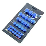CHENWEI- 30pcs / Set Cromado Plasti Motocicleta Tornillo Tuerca Tapa Tuerca Decoración for Yamaha (Color : Blue)