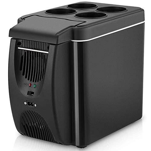 ZRZJBX 6L Mini Refrigerador para Auto, Auto Refrigerador Frigorífico Eléctrico Enfriador De Caja Y Congelador Portátil Más Cálido para Bar De Canotaje De Autos De Camping