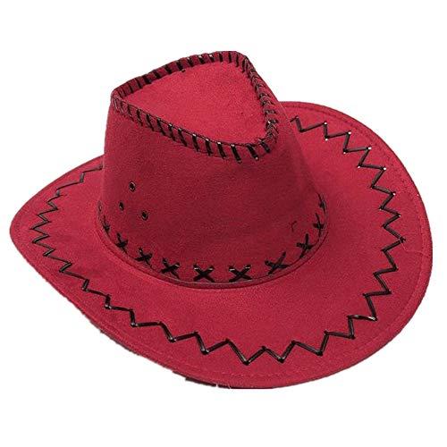 Miobo Cowboyhut Westernhut Cowgirl australien Texas Cowboy Damenhut Herrenhut Hut Hüte Western Rot