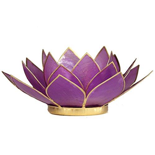 Lotus thee licht kaars houder Chakra Lila gouden voering