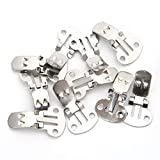 Xuniu 10 Stück Silber Ausschnitt Schuhe Clips, Clip On Ornaments Erkenntnisse DIY -
