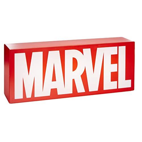 Marvel Marvel Logo Unisex Lámpara de mesa rojo-blanco, Plastico,