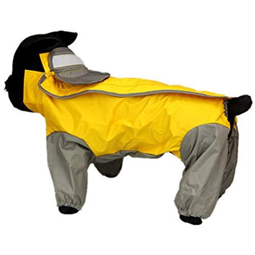Chubasquero para Perro, Mascota Perro Impermeables Chubasqueros Gabardina Perro Chubasquero con Gorro Impermeables Animal Doméstico del Impermeable Adecuado para Perros Pequeños.