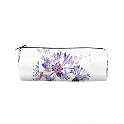 Estuche para lápices de flores, con cremallera, ideal para usar en la escuela, para viajes, etc.