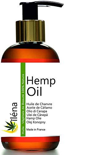 Hemp oil - Aceite vegetal de cáñamo 100% puro, virgen, prensado en frío Aceite barba, Envase con pompa (500 ml)
