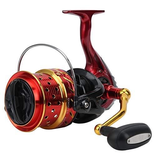 Alomejor Carrete de Pesca Caña de Pescar Carrete Giratorio 4,1: 1 Relación de Engranaje Carrete de Talla de Alta Velocidad Carrete de Pesca Intercambiar Izquierda y Derecha(CS8000)