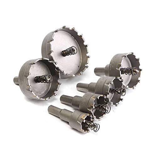 6st 22-65mm HSS gatenzaag carbidepunt boor gatenzaag set voor elektrisch gereedschap