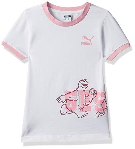 PUMA Mädchen Sesame Street Tee G T-Shirt, White, 152