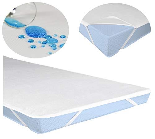 Leonado Vicenti Matratzeschoner Wasserundruchlässig Matratzenauflage Inkontinenz Auflage Schutz, Größe der Matratze:2 Stück 90 x 200 cm