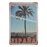 PALMA DE MALLORCA ESPANA Cartel de chapa retro de Metal Vintage, cartel de decoración de pared artística, Bar, cafetería, hombre, cueva, hogar, 8 × 12 pulgadas