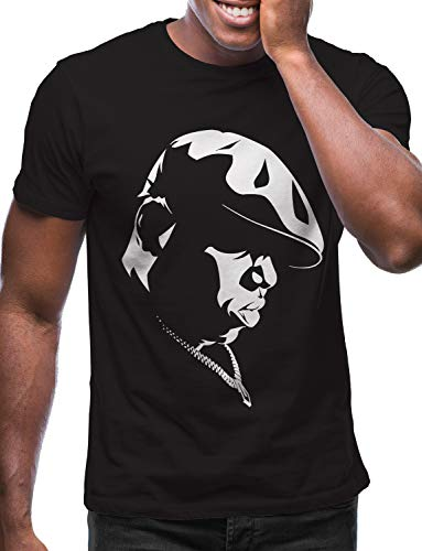 Swag Point Hip Hop T-Shirt - Funny Vintage Street wear Hipster Parody (M, Biggie-BLK)