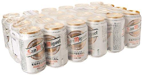San Miguel Cerveza - Paquete de 24 x 330 ml - Total: 7920 ml