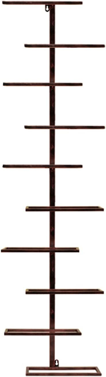 MCKEYEN 4 6 8 10 12 OFFicial mail order Wall-Mounted Bottle Holder Wine Floors Iron All items in the store