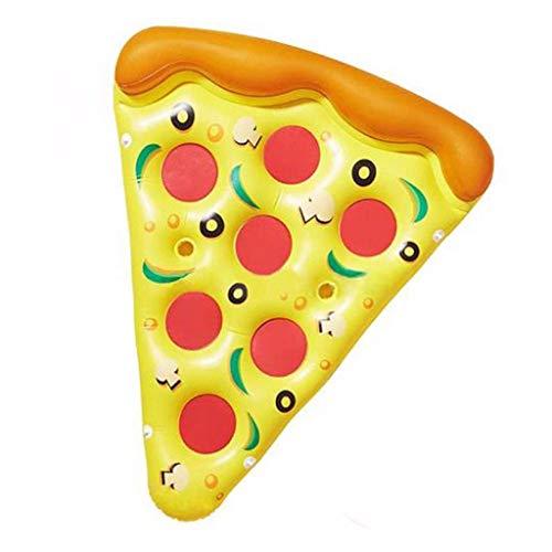 TYUXINSD Licht Schwimmbad Schwimmbett Aufblasbare Pizza Erwachsene Schwimmreihe Farbe Schwimmbett Schwimmen Ring Wasser Aufblasbare Bett Wasser Spielzeug Mount 180x150 cm Airbete & Inflatbables