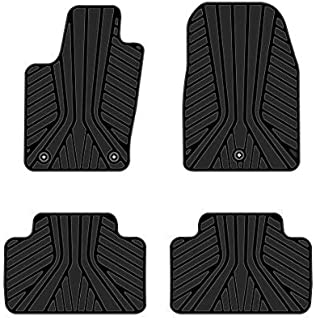 Kaungka Heavy Rubber Car Front Floor Mats Compatible for 2011 2012 2013 2014 2015 2016 2017 2018 Jeep Grand Cherokee -All Weather and Season