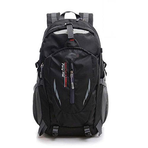 Minetom 55L Bag Impermeabilegrande Capacità Zaino Ciclismo Campeggio Viaggio Pack Trekking Escursionismo Montagna Alpinismo Nero One Size(32*25*50 Cm)