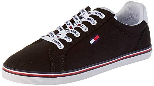 Tommy Hilfiger Damen Essential LACE UP Sneaker, Schwarz (Black Bds), 39 EU