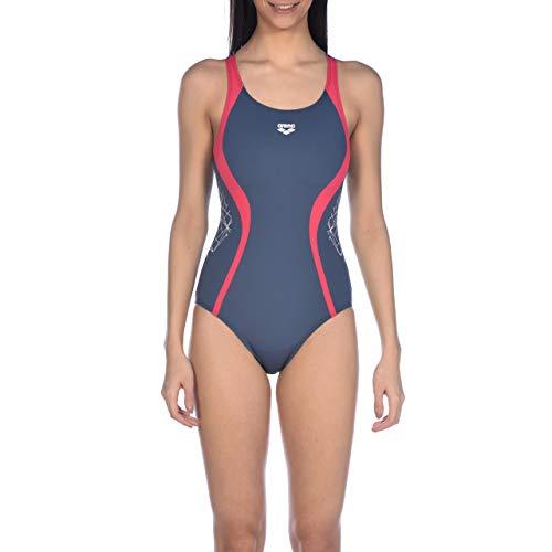 ARENA Bañador Deportivo para Mujer Balance, Mujer, Traje de baño de una Sola Pieza, 001626, Rosa, 36
