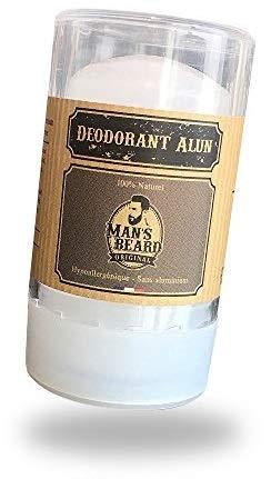 Man's beard - Véritable Deodorant Pierre d'Alun 60 g - Sans chlorhydrate d'aluminium - Déodorant NATUREL