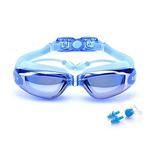 BEEWAY Gafas de Natación - Antivaho, Sin Fugas y Protección UV para Unisex Adultos Niños - Azul