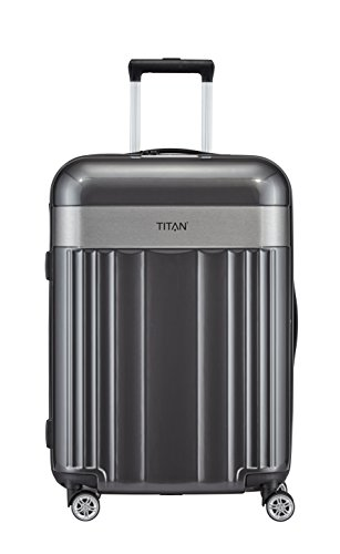 TITAN 4-Rad Koffer Größe M mit TSA Schloss, Gepäck Serie SPOTLIGHT: Edler Trolley in trendigen Farben, 831405-04, 67 cm, 69 Liter, anthracite (grau)