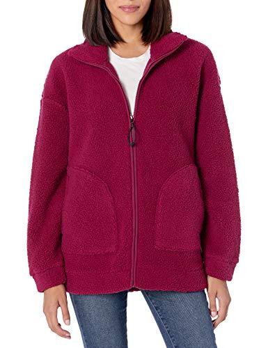 Skechers Winter Solstice Jacket Forro Polar, Bet Rojo, XXL para Mujer
