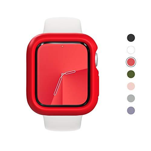 RhinoShield Funda Bumper Compatible con Apple Watch SE & Series 6/5 / 4 - [44mm]   CrashGuard NX - Diseño Compacto con Tecnología Resistente a Impactos de más de 1.2 Metros - Rojo