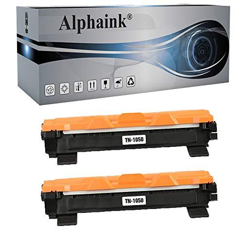 Alphaink 2 Toner compatibili con Brother TN-1050 TN-1000 per stampanti Brother HL-1210W HL-1212W HL-1110 HL-1112 DCP-1510 DCP-1512 DCP-1610W DCP-1612W MFC-1810 MFC-1910W