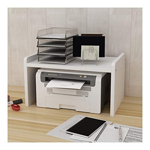 Soportes para impresoras De múltiples capas del estante de la impresora Soporte Soporte de gran capacidad de almacenamiento de escritorio de oficina Estante soporte portátil conveniente for la oficina