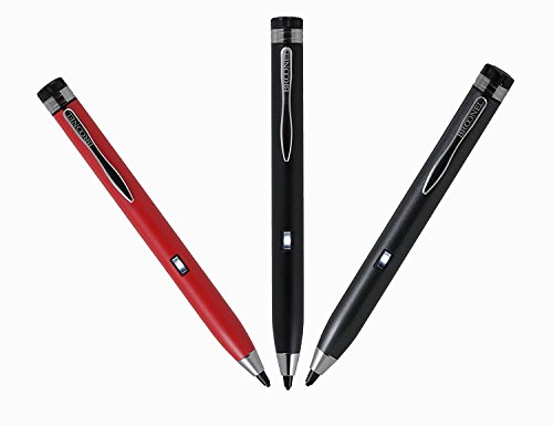 Navitech Schwarz digital Fine Point Hoche Präzision Active Stylus Pen/Eingabestift mit dünner Spitze kompatibel mit Lenovo 3 7 Plus