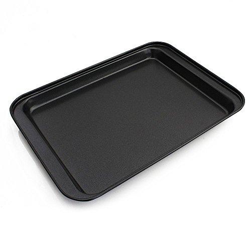 ZPFAMILY Nonstick Rectangular Bakeware Cake Pan Big Cookie Sheet Set Stainless Steel Commercial Pan Serving Tray,Baking Pan Cake Maker Cookie Sheet Pan,Oven Baking Cookie Baking Molds 12 x 8.5 Inch
