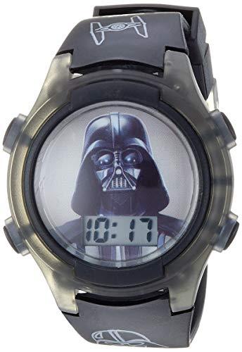 Star Wars Boys' Quartz Watch with Plastic Strap, Black, 18 (Model: DAR3611AZ)