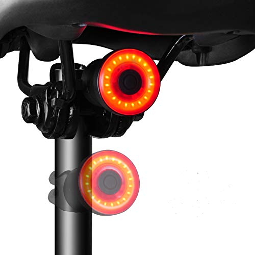 YOSKY Smart Bike Tail Light Sensing Rear Light-USB Rechargeable Safety Rear Bicycle Brake Light-High Intensity IPX6 Road Bike Light Auto on/off