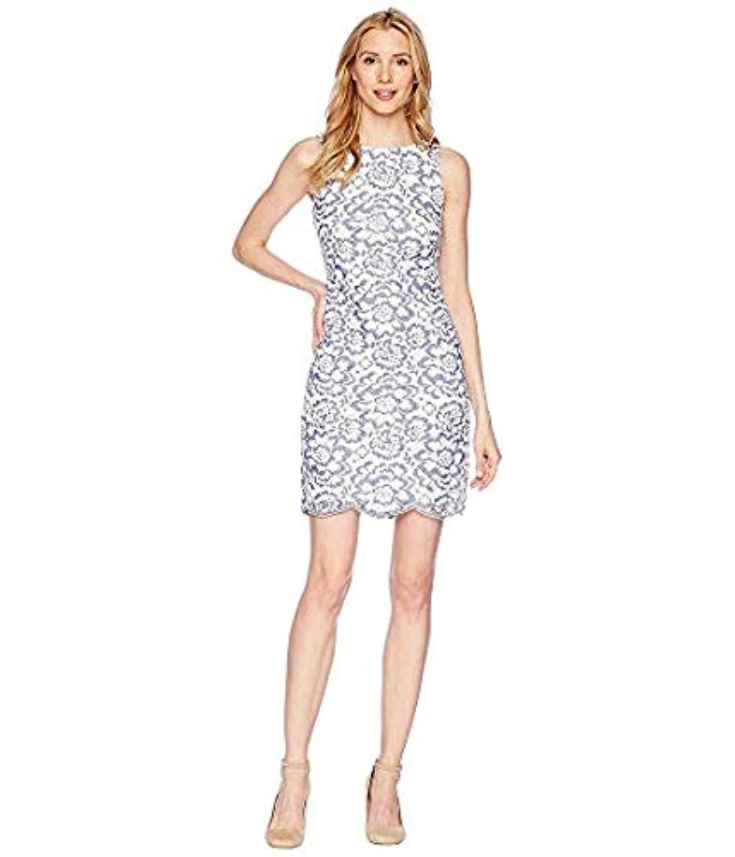 [LAUREN Ralph Lauren(ローレンラルフローレン)] レディースウェア?ジャケット等 Magna Blooming - Toralina Dress White/Blue US 6 (M) [並行輸入品]