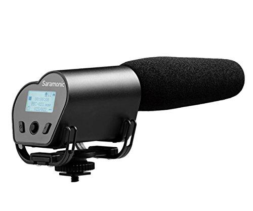 Saramonic vmic grabadora supercardioide Micrófono con Integrado de Audio grabadora de vídeo para cámaras DSLR