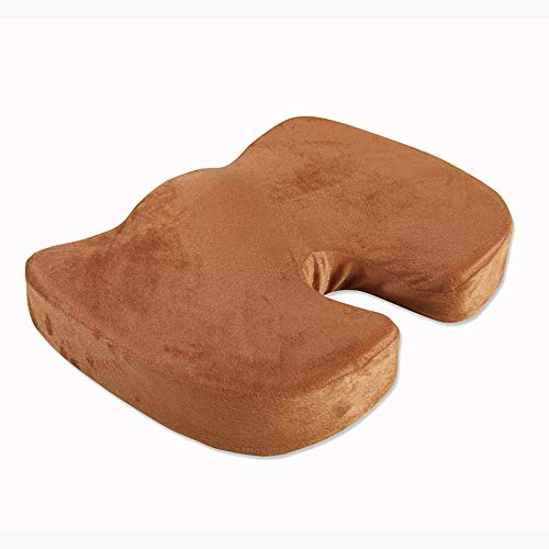 Orthopedisch Memory Foam zitkussen for Back Pain Relief en ischias En Staartbeen Pain - Ideaal for bureaustoel en Car Driver Seat Kussen (zitkussen) (Color : Beige)