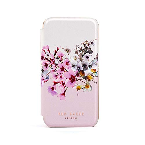 TEDBAKER Ted Baker - Folio Case for iPhone 12mini [ Jasmine Pink Cream Rose Gold ] 80488