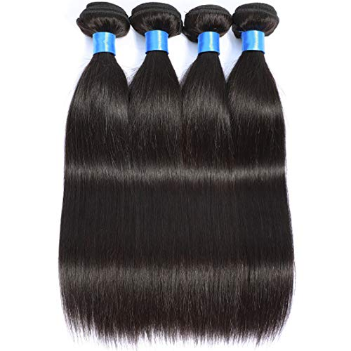 Cranberry Hair Peruvian Straight Hair 4 Bundles Weaves Virgin Unprocessed Human Hair Extensions Natural Black Color 16 18 20 22Inch