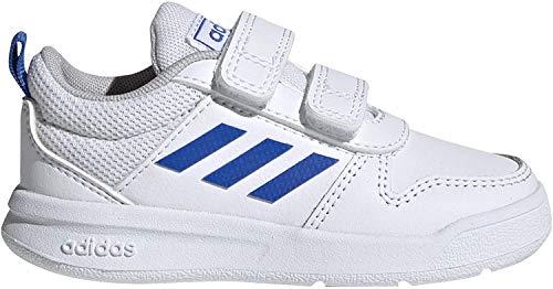 Adidas Tensaur I, Zapatillas de Estar por casa Bebé Unisex, Blanco (Ftwbla/Azul/Ftwbla 000), 27 EU