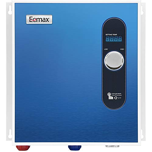 Eemax EEM24027 Electric Tankless Water Heater, Blue