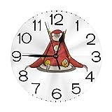 雷漫画 壁掛け時計 おしゃれ デジタル ミュート 円形 掛け時計 置き時計 目覚まし時計 インテリア 装飾