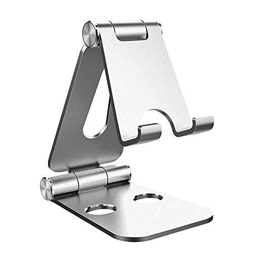Aiiwqk Compatible con el teléfono móvil, Ajustable, Plegable, de Aluminio, Modo de Tableta, Ajustable, Compatible con la Ruta Compatible, Pad Pro Pad