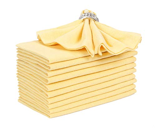 Every Day Cotton Dinner Napkins in Yarn Dyed Fabric-18x18