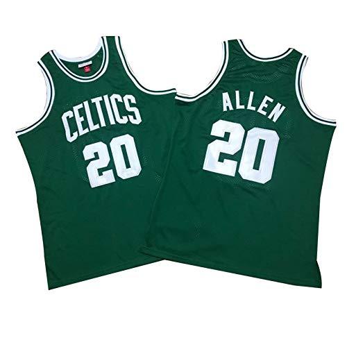 # 5 Kevin Garnett # 20 Ray Allen Y 34 Pierce Celtics Big Three Three Basketball Jerseys, Chaleco De Competición Deportiva De Fitness para Hombre, Cómoda Sudadera (S- #20 Green A-L