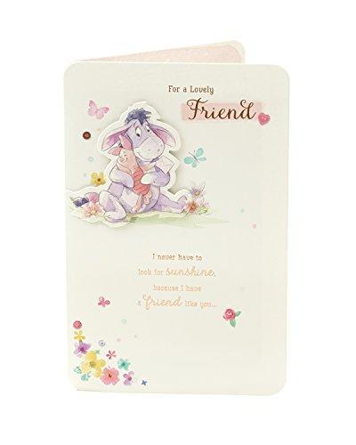GIBSON 536739–0Disney Winnie the Pooh Eeyore Freund Geburtstag Karte